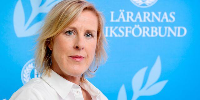 Åsa Fahlén, ordförande för Lärarnas Riksförbund Anders Wiklund/TT / TOPP TT NYHETSBYRÅN
