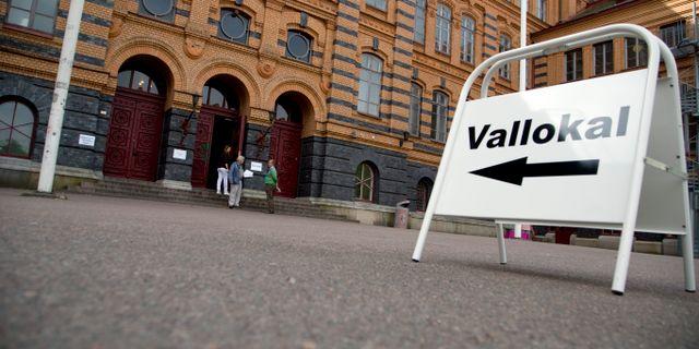 Vallokal i Göteborg. ADAM IHSE / TT / TT NYHETSBYRÅN
