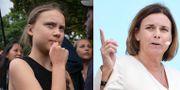 Greta Thunberg och Isabella Lövin.  TT