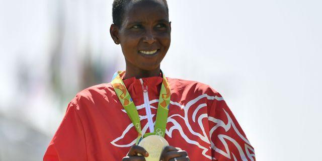 Eunice Jepkirui Kirwa. Arkivbild. FABRICE COFFRINI / AFP