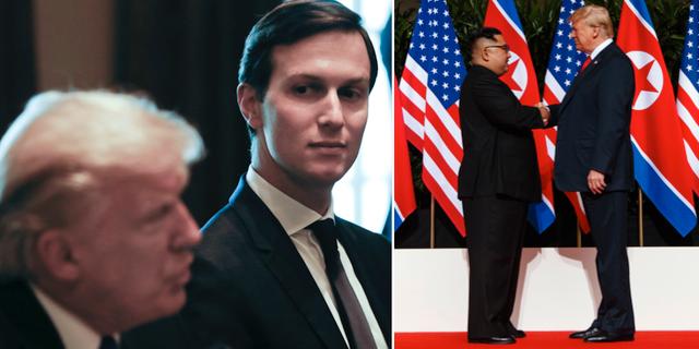 Jared Kushner, Donald Trump och Kim Jong-Un TT