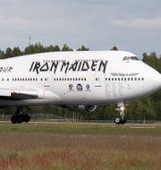 "Iron Maidens eget plan ""Ed Force One"". Bøe, Torstein / TT NYHETSBYRÅN"