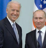 Joe Biden och Vladimir Putin vid ett möte när Biden var vicepresident. Alexei Druzhinin / TT NYHETSBYRÅN