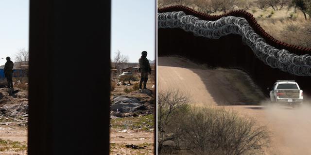Längs gränsen mot Mexiko. TT