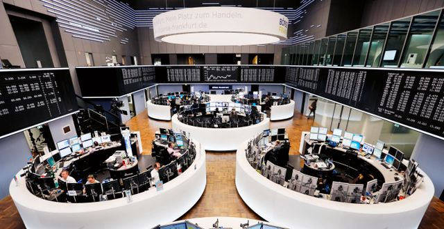 Frankfurtbörsen.  Michael Probst / TT NYHETSBYRÅN