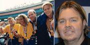 Tomas Brolin, Henke Larsson, Thomas Ravelli och Kennet Andersson efter VM-bronset 1995/Tomas Brolin.  TT