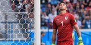 Fernando Muslera under matchen mot Frankrike.  KIRILL KUDRYAVTSEV / AFP