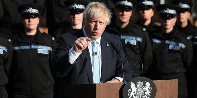 Boris Johnson på torsdagen. DANNY LAWSON / POOL