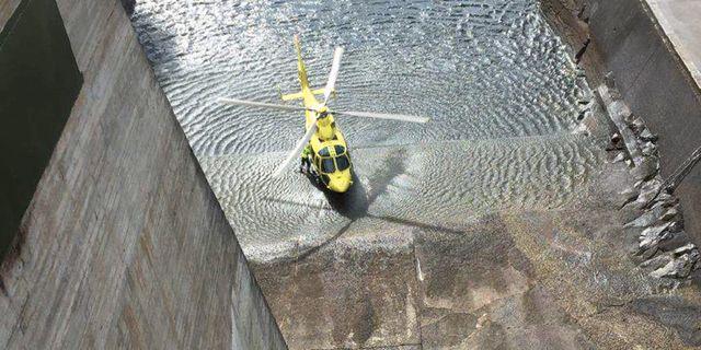 Dammen där flickan kastades ner.  Polisområde Jämtland