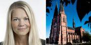 Svenska Dagbladets ledarskribent Maria Ludvigsson/Uppsala domkyrka.  TT