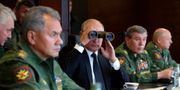 Vladimir Putin under Zapad-2018. Mikhail Klimentyev / TT NYHETSBYRÅN