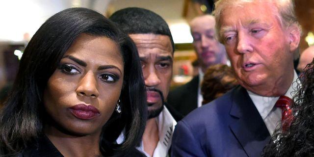 Omarosa Manigault Newman och Donald Trump. TIMOTHY A. CLARY / AFP