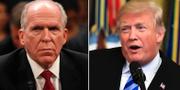 John Brennan och Donald Trump. TT