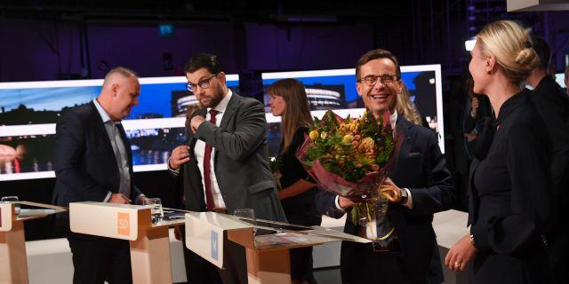 Ulf Kristersson (M) och Jimmie Åkesson (SD)  Fredrik Sandberg/TT / TT NYHETSBYRÅN