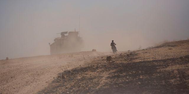 Amerikanska styrkor i Syrien.  Maya Alleruzzo / TT NYHETSBYRÅN