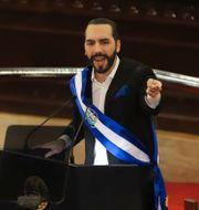 Arkivbild: El Salvadors president Nayib Bukele.  Salvador Melendez / TT NYHETSBYRÅN