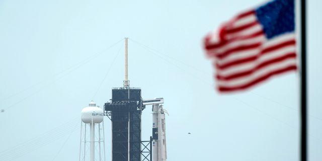 Falcon 9 lyfter från Kennedy Space Center på onsdag. David J. Phillip / TT NYHETSBYRÅN