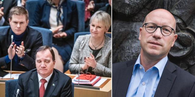 Ola Pettersson, chefsekonom på LO, till höger.  TT