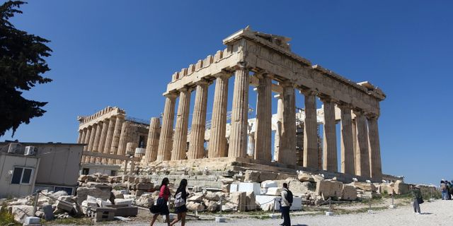 Parthenontemplet på Akropolis i Aten. Løvland, Marianne / TT NYHETSBYRÅN