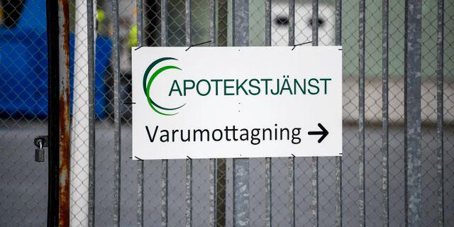 Apotekstjänst. Pontus Lundahl/TT / TT NYHETSBYRÅN
