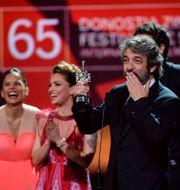 Skådespelaren Ricardo Daris prisas vid 2017 års festival. Alvaro Barrientos / TT NYHETSBYRÅN