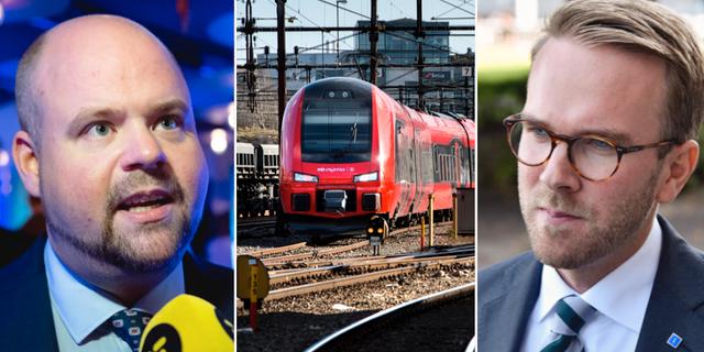 Partisekreteraren Peter Kullgren och gruppledaren i riksdagen, Andreas Carlson.  TT