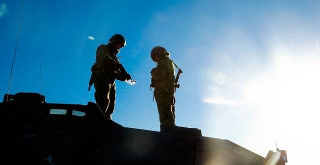 Norrbottens regemente I 19 i Boden förbereder sig inför Trident Juncture, 17 oktober.  Petra Älvstrand/TT / TT NYHETSBYRÅN