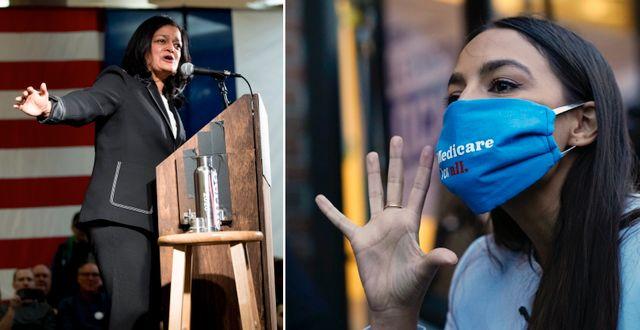Demokraterna Pramila Jayapal och Alexandria Ocasio-Cortez har skrivit under brevet.  TT