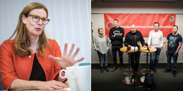 Birgitta Bonnesen och Hamnarbetarförbundet. TT