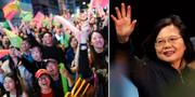 Anhängare till Tsai Ing-wens parti DDP/Tsai Ing-wen TT