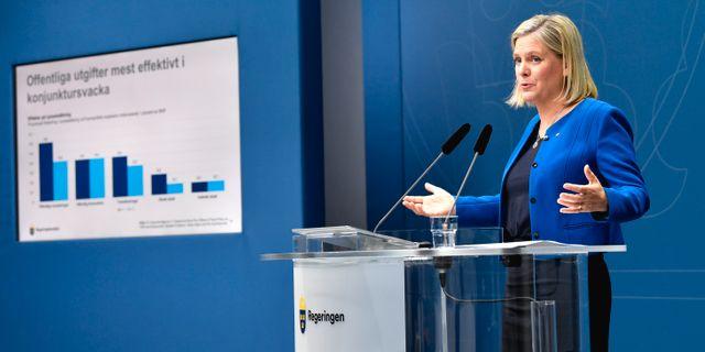 Finansminister Magdalena Andersson. Anders Wiklund/TT / TT NYHETSBYRÅN