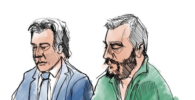 Daniel Nyqvist till höger. Till vänster syns hans advokat Johan Ritzer. JOHAN HALLNÄS/TT / TT NYHETSBYRÅN