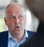 Vänsterledaren Jonas Sjöstedt. Jessica Gow/TT / TT NYHETSBYRÅN