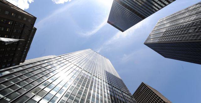 Arkivbild: JP Morgan Chase building på Park Avenue i New York STAN HONDA / AFP