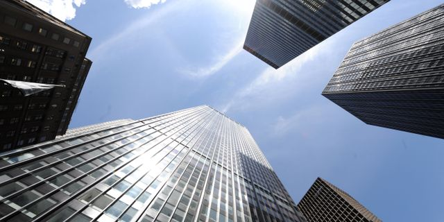 Arkivbild: JP Morgan Chase building på Park Avenue i New York STAN HONDA / AFP