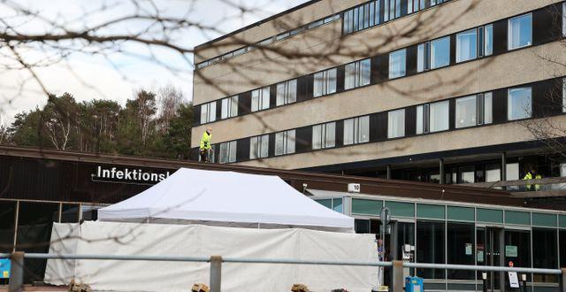 Infektionskliniken på Sahlgrenska universitetssjukhuset/Arkivbild.  Adam Ihse/TT / TT NYHETSBYRÅN