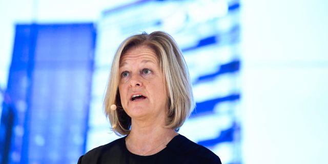 Nya Telia-vd:n Allison Kirkby.  Janerik Henriksson/TT / TT NYHETSBYRÅN