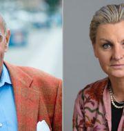 Moderaterna Ulf Adelsohn och Maria Abrahamsson. TT