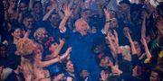 Jean-Paul Gaultier under sista modeshowen. Francois Mori / TT NYHETSBYRÅN