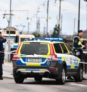 Poliser vid en annan insats i Göteborg/Facebooksida för Polisen Nordost i Göteborg