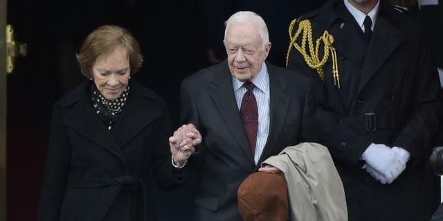 Rosalynn Carter och Jimmy Carter. MANDEL NGAN / AFP