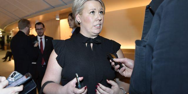 Kristdemokraternas Camilla Brodin. Stina Stjernkvist/TT / TT NYHETSBYRÅN
