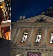 Sjölin, Akademiens kontor i börshuset i Stockholm TT