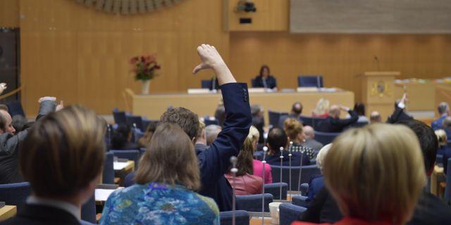 Budgetomröstning i riksdagen. Anders Wiklund/TT / TT NYHETSBYRÅN