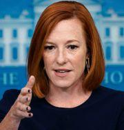 Vita husets pressekreterare Jen Psaki. Susan Walsh / TT NYHETSBYRÅN