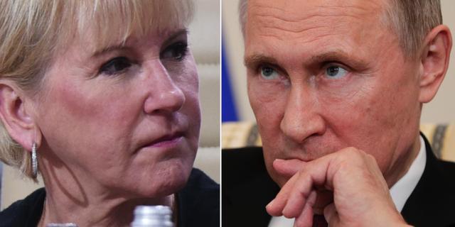 Wallström och Putin. TT