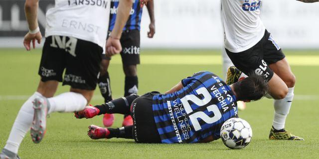 Bild från matchen mellan Örebro SK och Sirius. Christine Olsson/TT / TT NYHETSBYRÅN