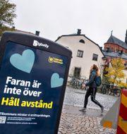 Uppmaning till avstånd i Uppsala. Claudio Bresciani / TT / TT NYHETSBYRÅN