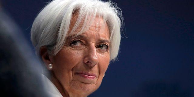 IMF-chefen Christine Lagarde. Markus Schreiber / TT NYHETSBYRÅN/ NTB Scanpix