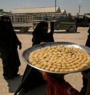 Kvinnor i al-Hol-lägret i Syrien. Arkivbild. Baderkhan Ahmad / TT NYHETSBYRÅN